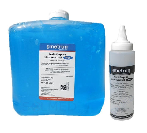 METRON 5 LITRE BLUE MULTIPURPOSE ULTRASOUND GEL MEDIUM VISCOSITY