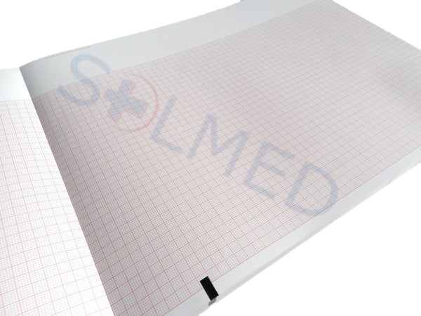 MORTARA 9100-026-50 ECG PAPER THERMAL PREMIUM GRADE MORTARA 215mm x 280mm PACK 250 Sheets