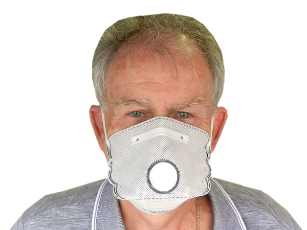 P1 ACTIVE CARBON MASK WITH VALVE - FILTERS AGAINST DUST, MIST, ORGANIC VAPOUR
