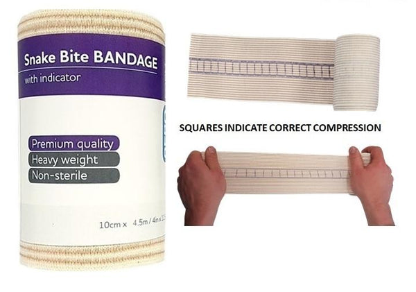 Snake Bite Kit With Tension Indicator Bandages