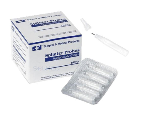 SPLINTER PROBES SURGICALLY CLEAN (BOX 100)