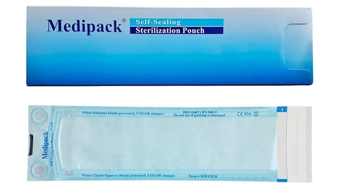 STERILISATION POUCH 90MM X 230MM - BOX 300