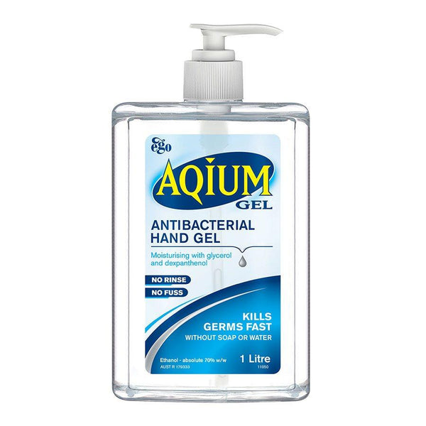 HAND WASH ANTIBACTERIAL SANITIZER GEL AQIUM 1 LITRE x 1