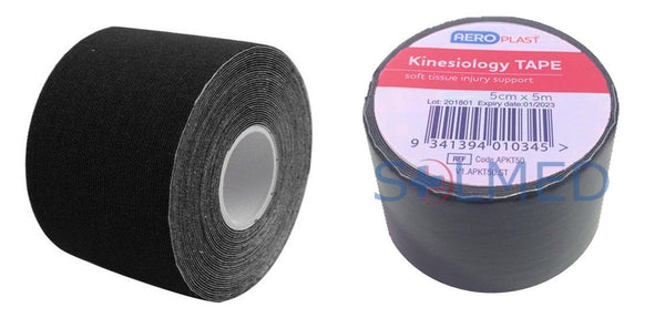 KINESIOLOGY TAPE 5CM X 5M BLACK