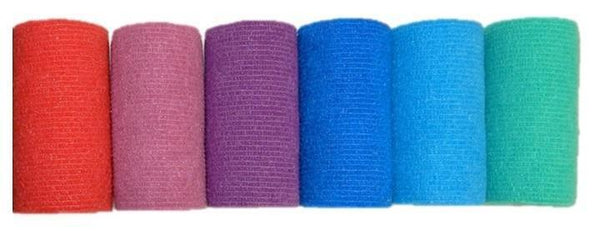 COHESIVE BANDAGE 7.5CM x 4.7M ASSORTED COLOURS BOX 36