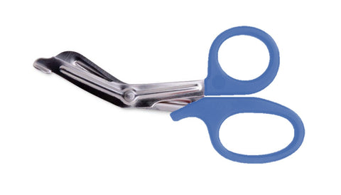 SCISSORS 14CM BASIC UNIVERSAL TYPE LIGHT BLUE
