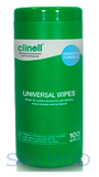 CLINELL UNIVERSAL SANITISING WIPES (TUB OF 100)