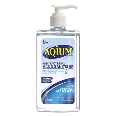 HAND WASH ANTIBACTERIAL SANITIZER GEL AQIUM 375ml x 1