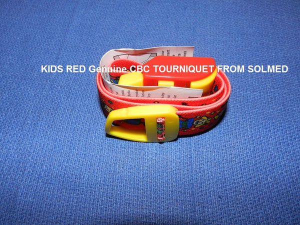 TOURNIQUET REUSABLE CLASSIC KIDS RED PATENTED