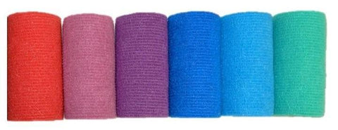 COHESIVE BANDAGE 5CM x 4.7M ASSORTED COLOURS BOX 36