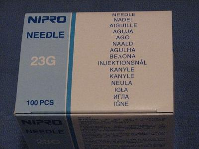 "NEEDLES HYPODERMIC NIPRO FLOMAX 23G X 25MM (1"") x BOX100"