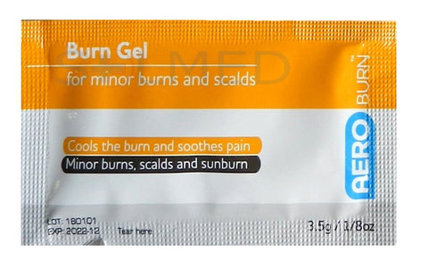 AEROBURN HYDROGEL BURNS GEL SACHETS, Burns, Burn treatment, Hydrogel, Burn Sachet, Burn Gel, Burns care, Gel for burns