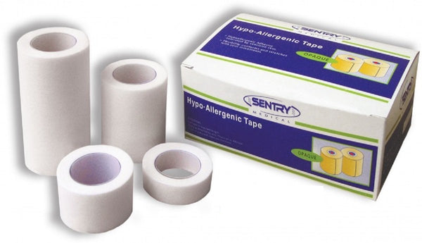 HYPO-ALLERGENIC MEDICAL PAPER TAPE LATEX FREE 2.5CM X 9.1M BOX 12
