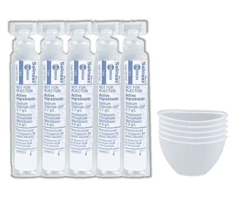 EYE BATH CLEANSING SOLUTION 15ML AMPOULE WITH BATH CUP RECLENS X 10