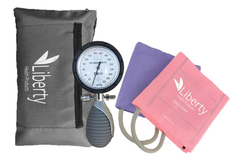 SPHYGMOMANOMETER ANEROID ONE HANDED PINK X1