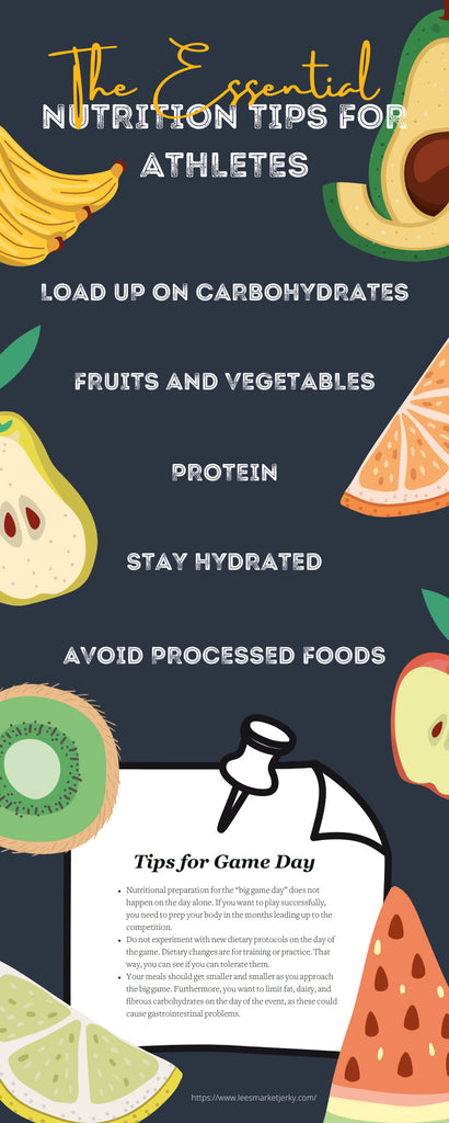 The Essential Nutrition Tips for Athletes Infographic