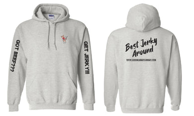 Best Jerky Around Hoodie Gray