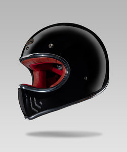 COMMANDO LUXURY HELMET (Black) FREE GOGGLES