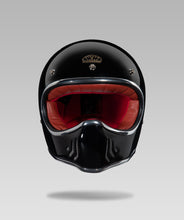Load image into Gallery viewer, COMMANDO LUXURY HELMET (Black) FREE GOGGLES