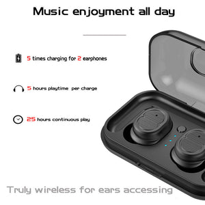 TWS-8 Wireless Bluetooth Earphone Mini Headset Touch Control Bluetooth V5.0 Stereo In-Ear Earbuds for Iphone 7 IOS Xiaomi Phone