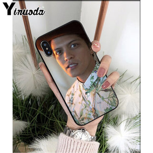Yinuoda Singer bruno mars TPU Soft Silicone Phone Case Cover for iPhone 8 7 6 6S Plus 5 5S SE XR X XS MAX Coque Shell