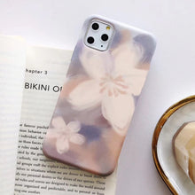 Load image into Gallery viewer, Painting Flower Phone Case For iphone 11 Pro Max X XR XS Max 6 Plus 6S 7 8 Plus Art Leaves Floral Soft IMD Back Cover Coque