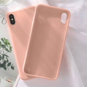 CASEIER Soft Silicone Phone Cases For iPhone 11 Pro XS Max XR X Case Funda Case For iPhone 7 8 6 6S Plus Candy Color Cover Capa