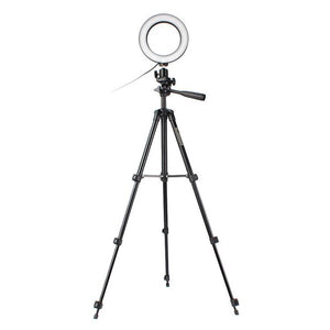 16cm Height Adjustable Photography Phone Holder Led Tripod Stand Anti Slip Selfie Ring Light Set Bright Live Broadcast Makeup