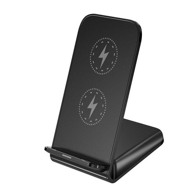 New vertical desktop wireless charger 10W fast charging mobile phone holder portable QI charger for iPhone XIAOMI HUAWEI Samsung