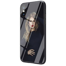 Load image into Gallery viewer, Jennifer Lopez Tempered Glass TPU Black Case for iPhone SE 2020 11 Pro X or 10 8 7 6 6S Plus Xr Xs Max
