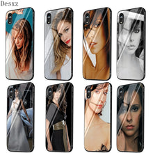 Load image into Gallery viewer, Glass Phone Case TPU Glass For Apple iphone 11 Pro MAx  5 5s6 6S 7 8 Plus XR X XS Max Jennifer Lopez