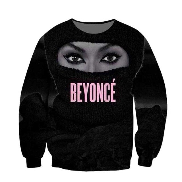 Women Men Trill Yonce Queen Bey Beyonce Legendary Singer 3D Sublimation print Sweatshirt Crewneck Sweats Jumper Plus Size
