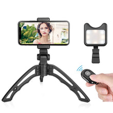 Load image into Gallery viewer, APEXEL Mini Tripod with Led Fill light lens Portable Selfie Camera Tripod Monopod for iPhone X 7 Canon Nikon Gopro Smartphone