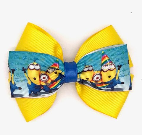 Minion Hair Bow on Clip