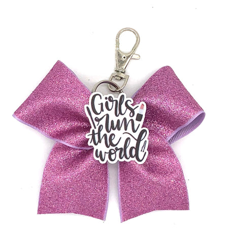 Girls Run The World Bag Charm/ Keychain