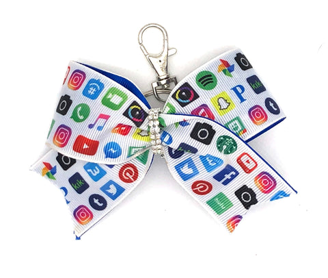 Social Media Bag Charm/ Keychain