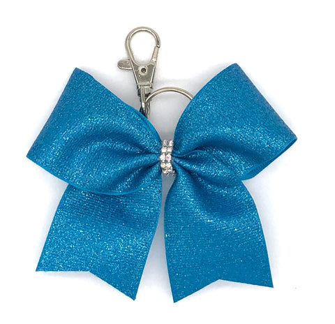 Teal Bag Charm/ Keychain