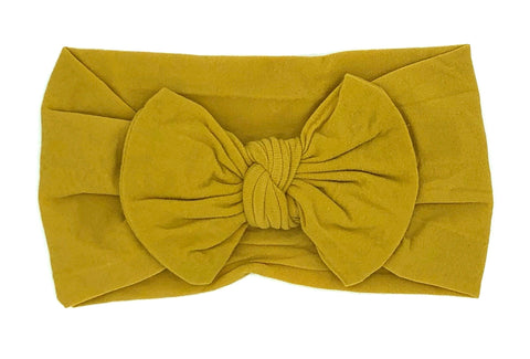 Mustard Yellow Soft Baby Headband
