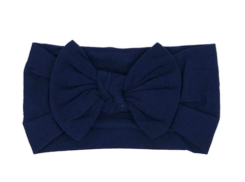Navy Soft Baby Headband