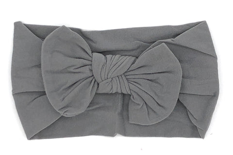 Gray Soft Baby Headband