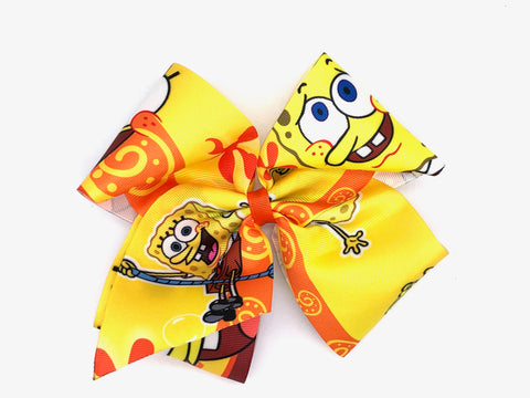 JoJo Inspired Bow SpongeBob