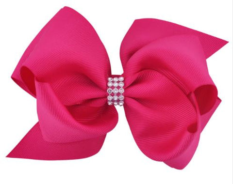 Pink Large Hair Bow on Clip