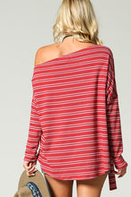 Load image into Gallery viewer, Turn it Up Red Sexy Shoulder Blouse - Cup of Tea Boutique