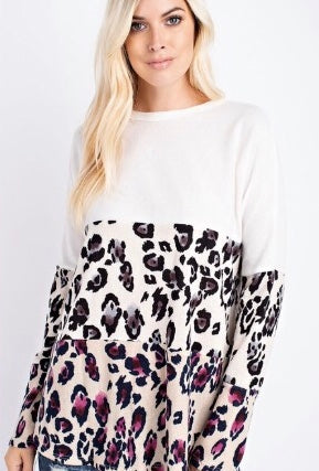 Brushed Animal Print Top - Cup of Tea Boutique