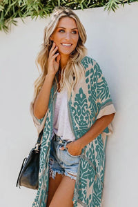 Kimono - Floral Mint - Cup of Tea Boutique
