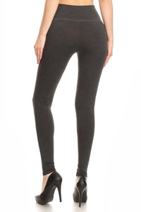 Lovable Leggings - Charcoal - Cup of Tea Boutique