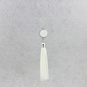 Tassel Me Some Happiness Necklace - Cup of Tea Boutique