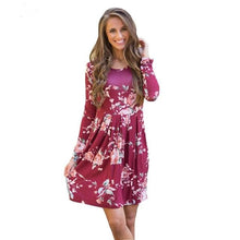 Load image into Gallery viewer, Just for You Fall Floral Dress - Cup of Tea Boutique