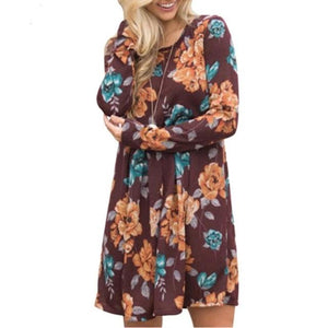 Just for You Fall Floral Dress - Cup of Tea Boutique