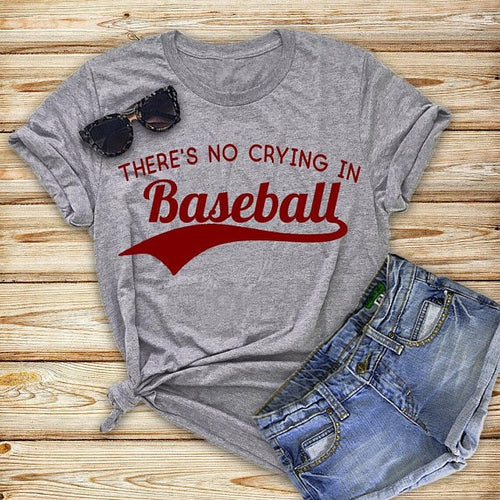 There's No Crying in Baseball Graphic Tee - Cup of Tea Boutique